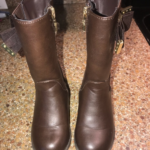 81f71f9bd15 toddler girl brown leather Michael Kors BOOTS
